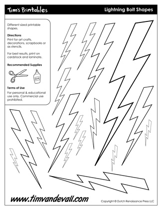 Lightning Bolt Shapes