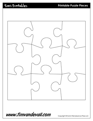 Simplicity image with printable puzzles pieces
