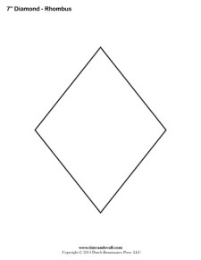 Diamond Templates - 7 inch