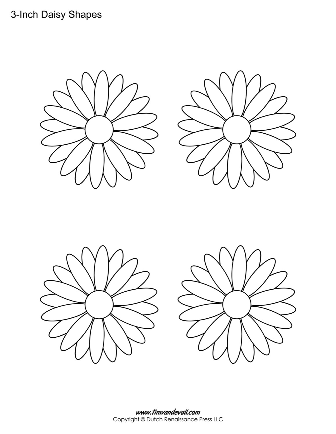 It is a photo of Nifty Daisy Template Printable