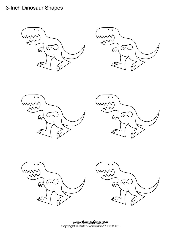 Dinosaur Template | Dinosaur Templates Free Printable Dinosaur Shape Pdfs