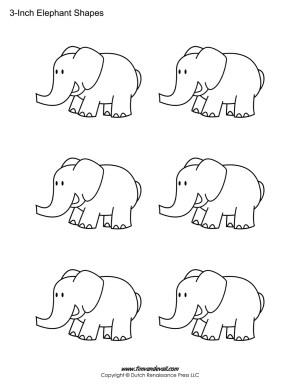 printable elephant stencils