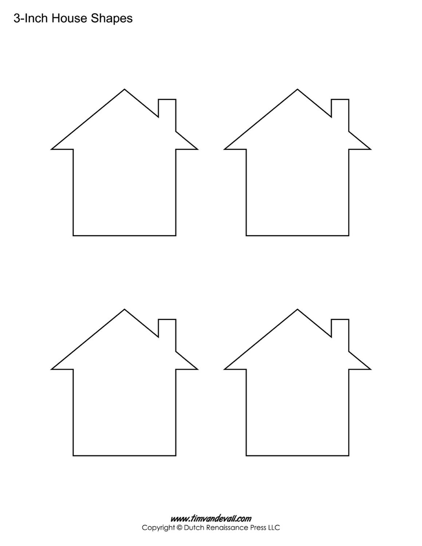House Templates | Free Blank House Shape PDFs
