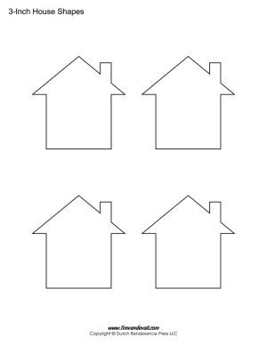 printable house stencils