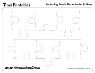 Printable Puzzle Piece Border Pattern