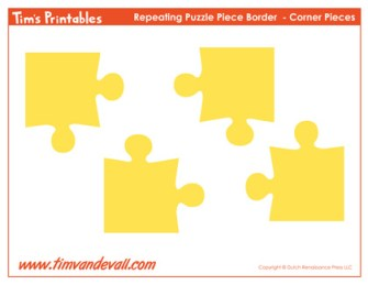 Printable Puzzle Piece Corners