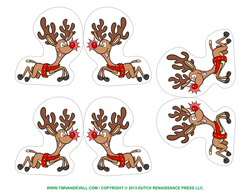 reindeer ornaments printable