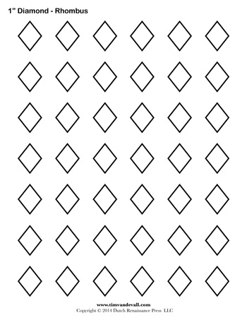 Diamond Templates - 1 inch - Tim's Printables