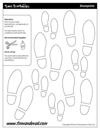 Printable Footprint Templates & Shoeprint Templates