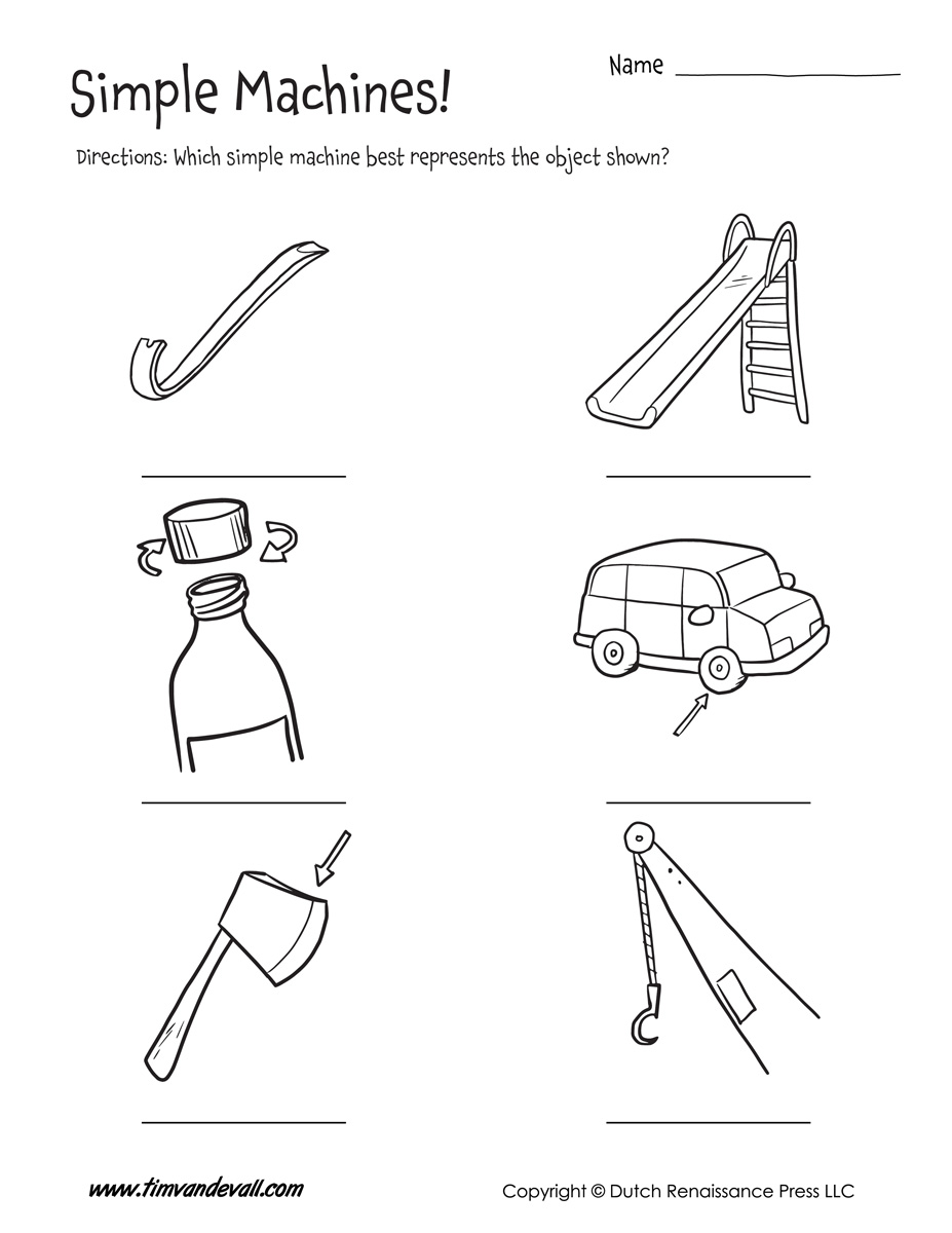 hight resolution of Simple Machines Drawing