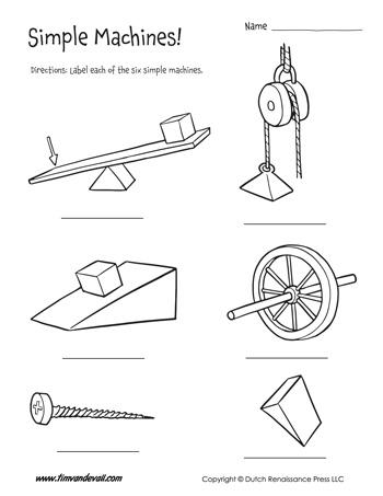 simple machines worksheets