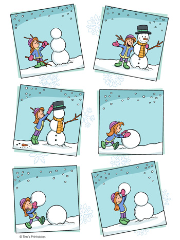 Snowman Sequencing Worksheet Tim S Printables