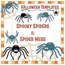 Halloween Templates - Spooky Spiders and Spider Webs