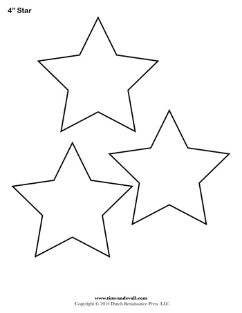 Star Template - 4 Inch