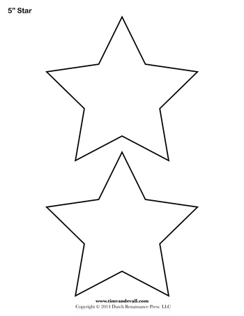 Star Template - 5 Inch