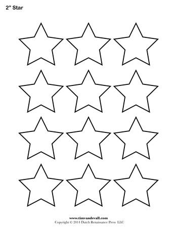 Star Template - 2 Inch