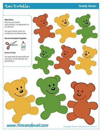 teddy bear templates