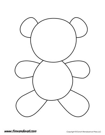 teddy bear template