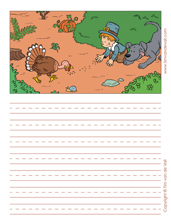 thanksgiving story paper