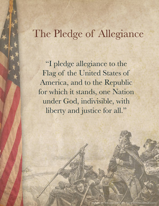 Pledge of Allegiance Words Printable