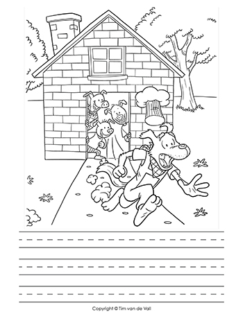 Three Little Pigs Writing Template Tims Printables