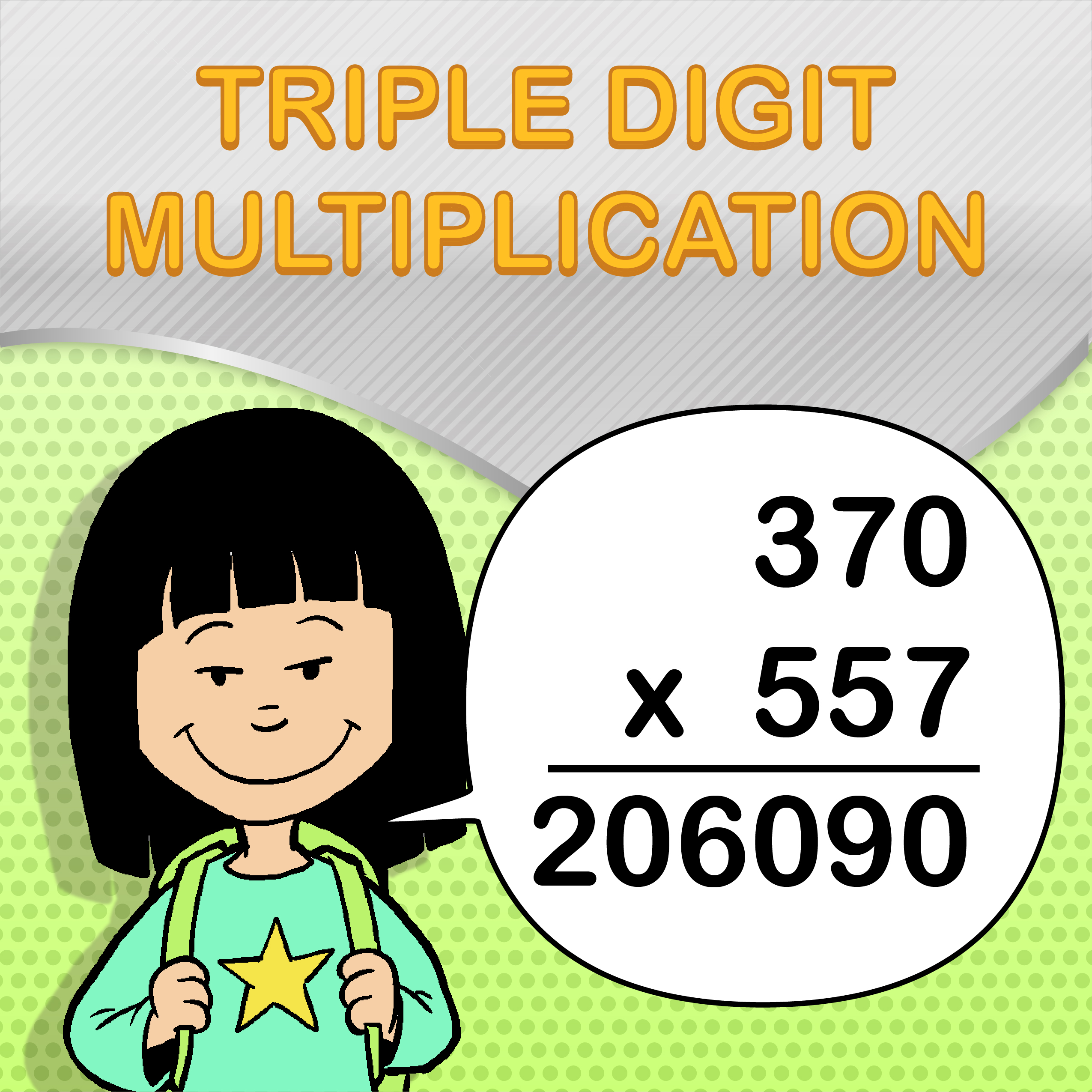 Triple Digit Multiplication Worksheets For Kids And
