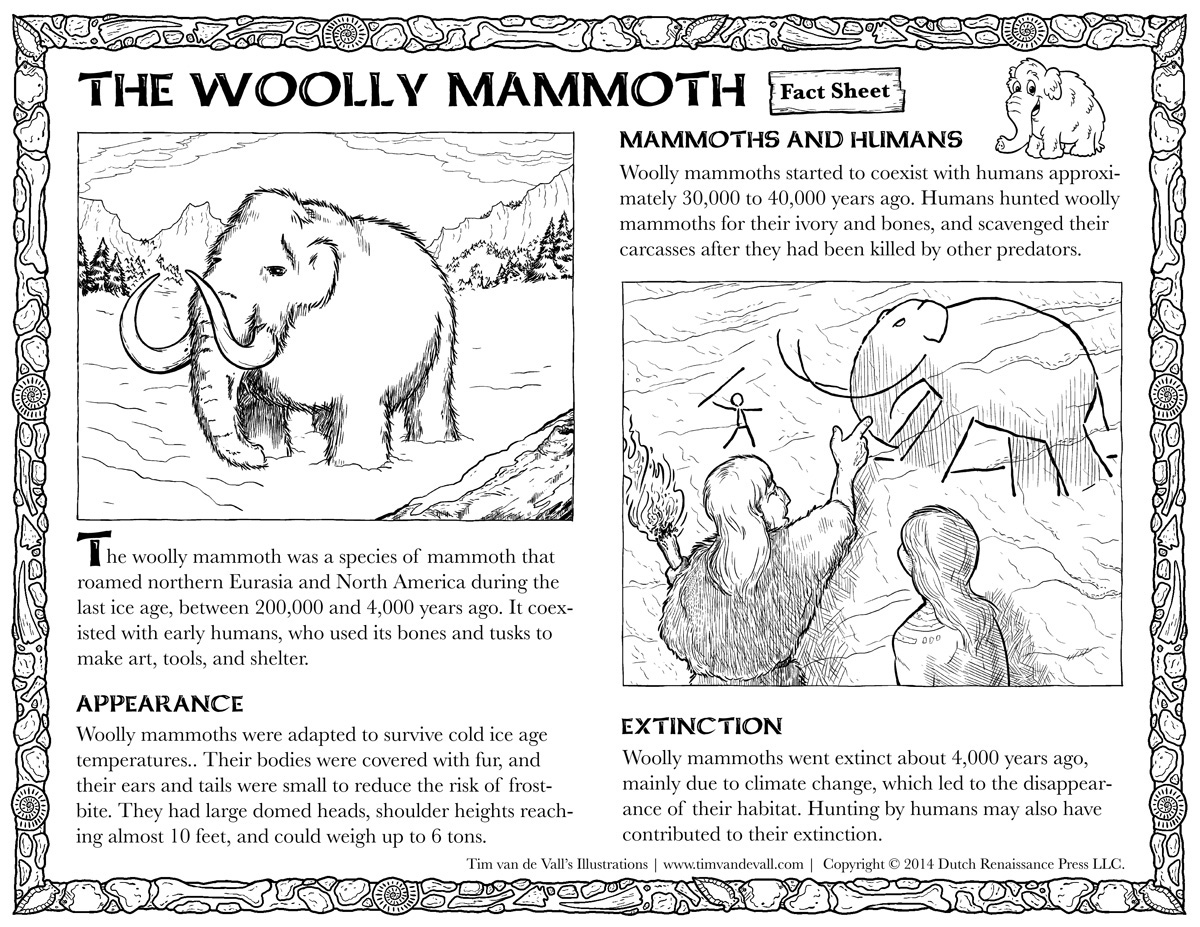 Woolly Mammoth Fact Sheet