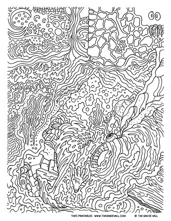 abstract coloring page # 53