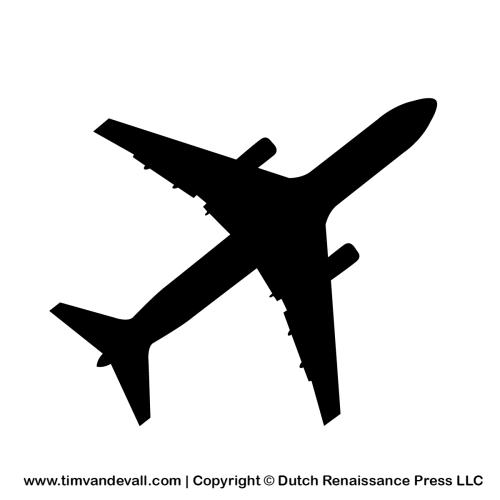 airplane silhouette stencil