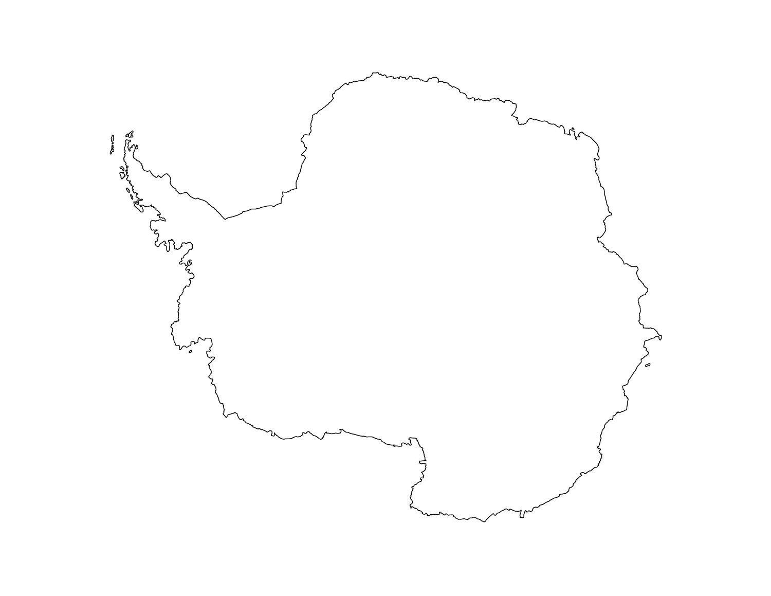 Blank Antarctica Map Printable