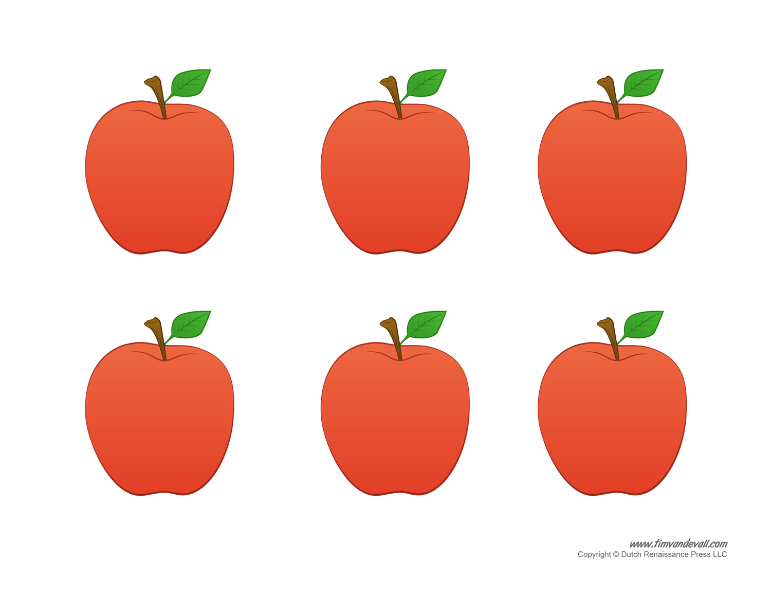 This is an image of Free Printable Apple Template regarding lesson