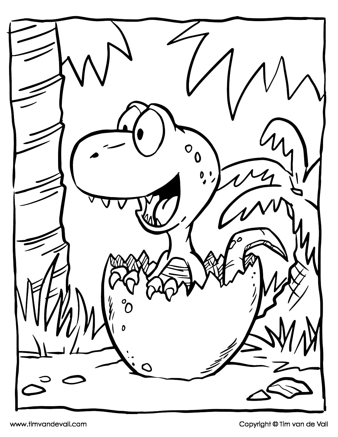 Baby Dinosaur Coloring Page