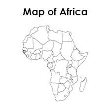 Free Blank Africa Map Printable
