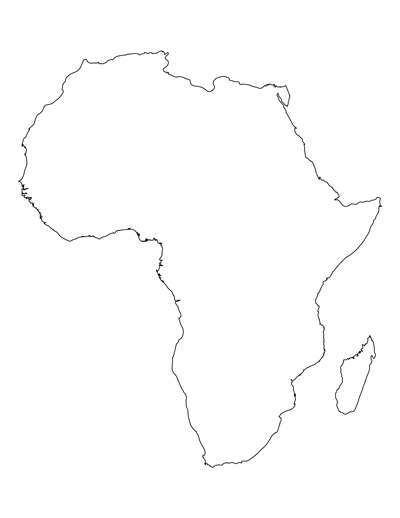 Printable Map of Africa for Students and Kids Africa Map