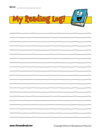 printable reading log template