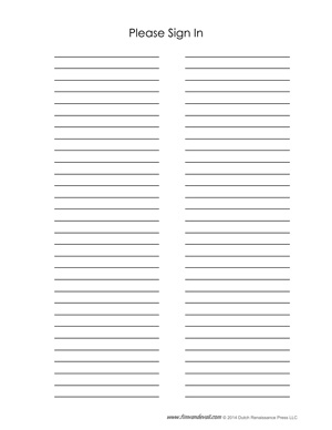 printable sign in sheet for events