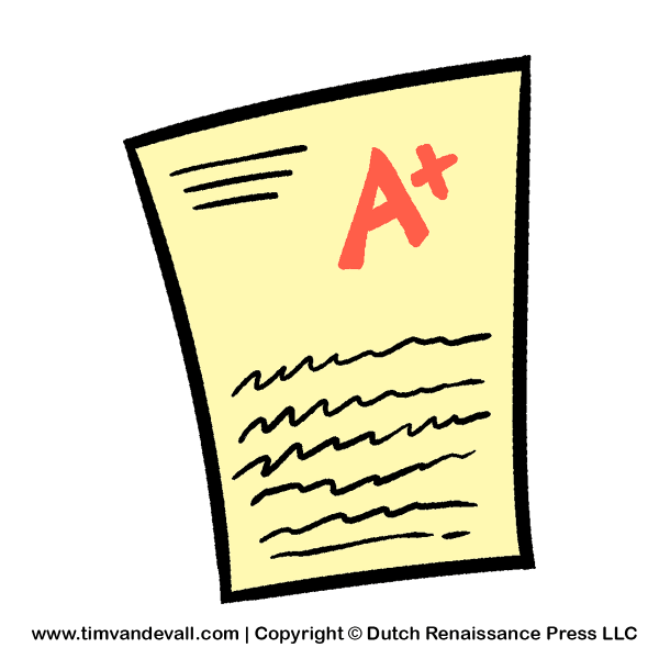 test-paper-clipart - tim's printables
