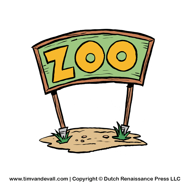 Zoo-sign-clipart - Tim' Printables