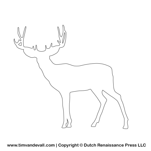 deer outline template