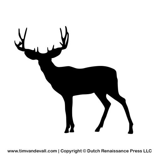 deer silhouette stencil