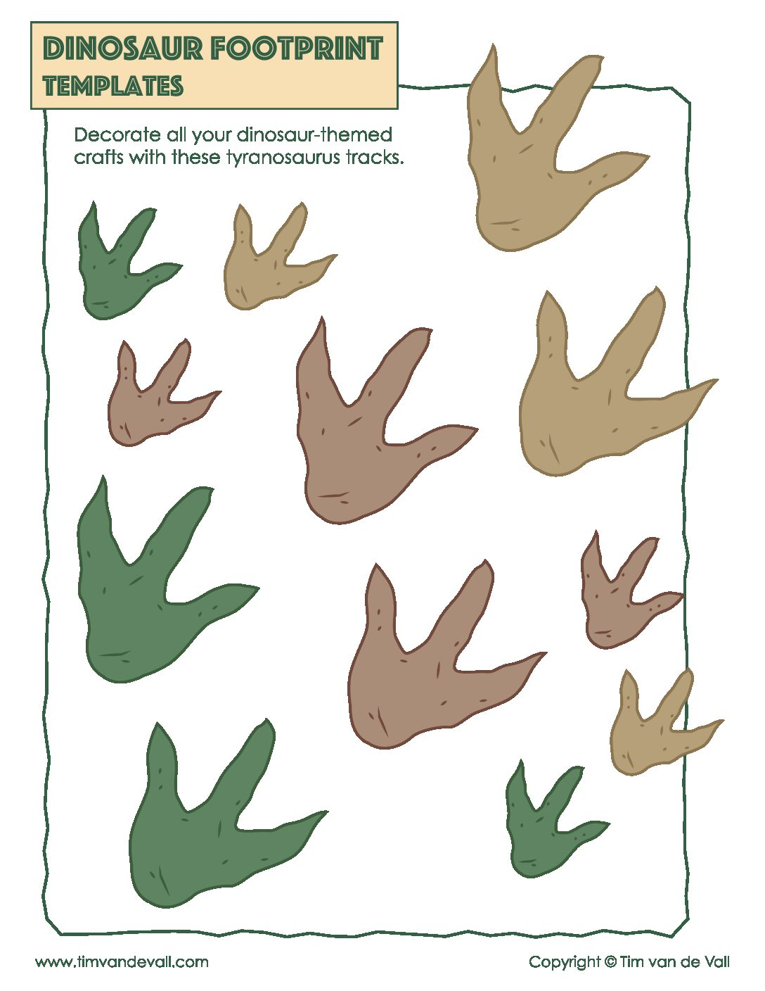 Dinosaur Footprint Templates