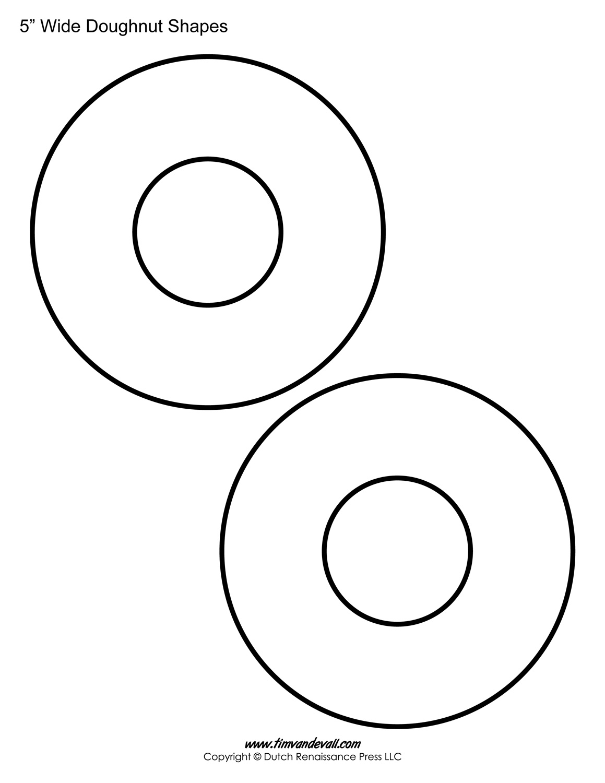printable donut templates blank doughnut shapes