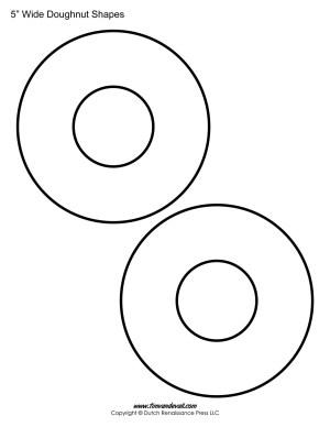 printable doughnut shapes