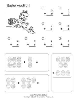 Easter Math Worksheets - Addition Worksheet