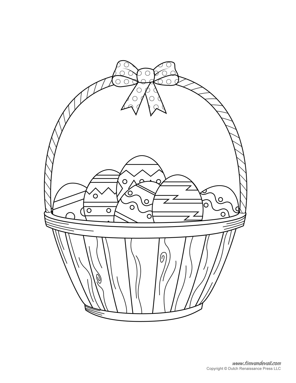 Easter Basket Template, Easter Basket Clipart & Easter Craft