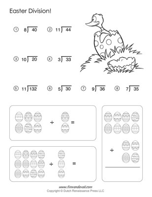 Easter Math Worksheets - Division Worksheet