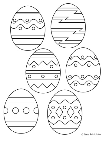 Easter Egg Templates