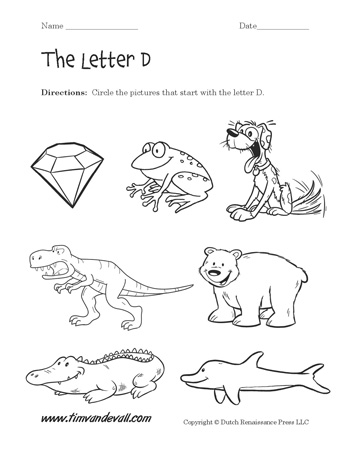 Letter D Worksheet #2