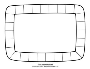 Board Game Template #4 - Black and White