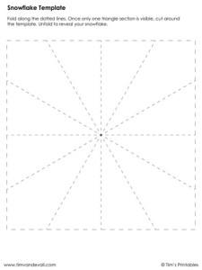 blank-snowflake-template
